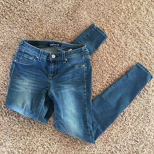 Medium Blue Wash Skinny Jeans